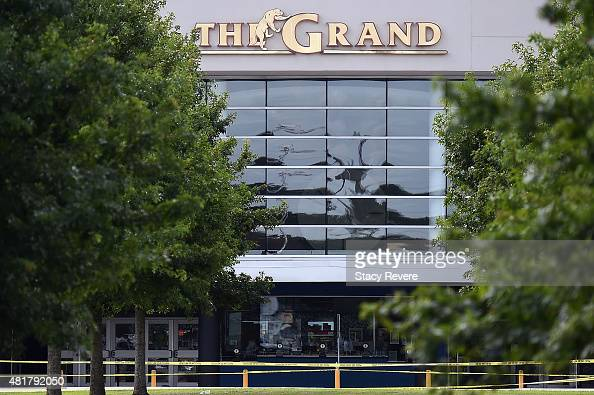 General view of the Grand Theatre on July 24 2015 in Lafayette Louisiana Two People were killed and nine others wounded when a shooter identified as...