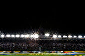 A general view of the grandstand at the start of the NASCAR Sprint Cup Series Sprint AllStar Race at Charlotte Motor Speedway on May 21 2016 in...