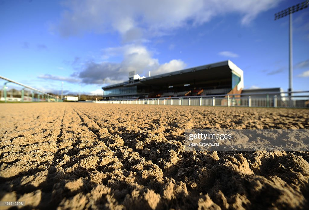 A general view of the grandstand at Wolverhampton racecourse on January 09 2014 in Wolverhampton England