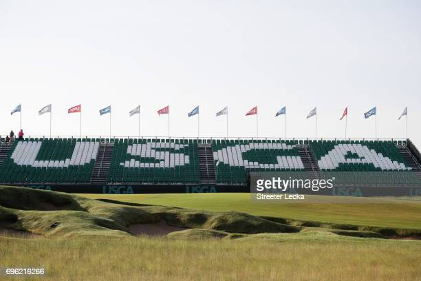 A general view of the grandstands during the first round of the 2017 US Open at Erin Hills on June 15 2017 in Hartford Wisconsin