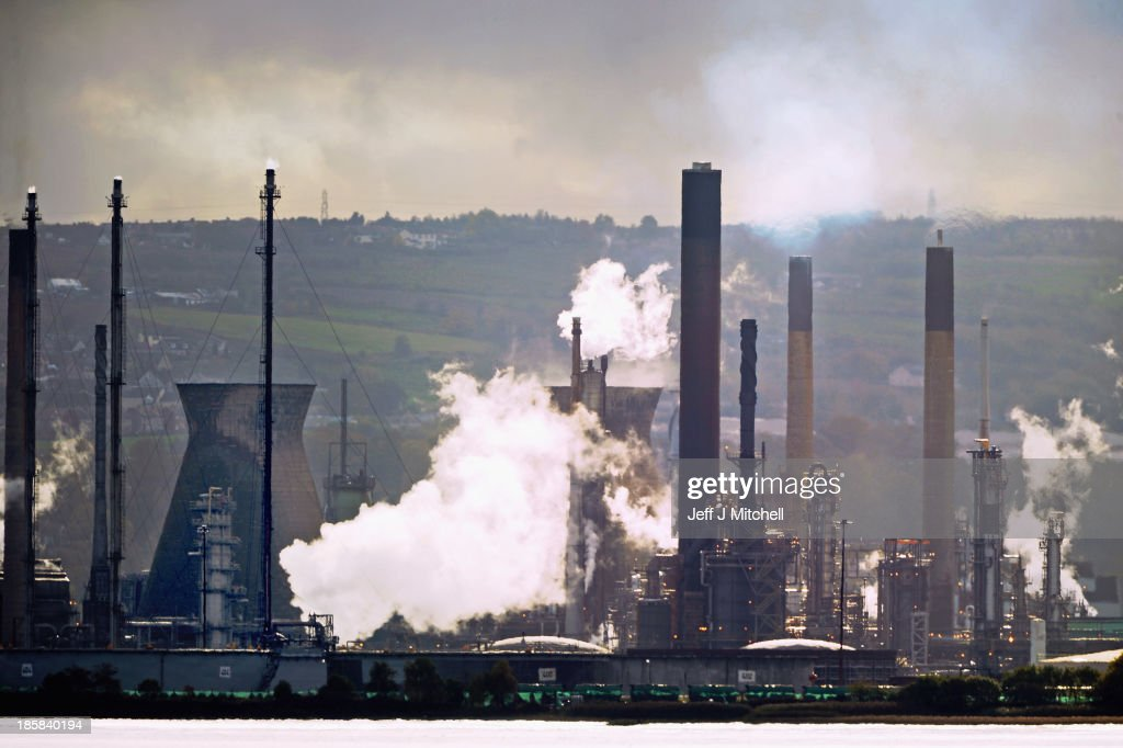 A general view of the Grangemouth petrochemical plant on the day management announced that it is to stay open on October 25, 2013 in Grangemouth, Scotland. Workers were informed by senior management at a mass meeting that the decision to shut the plant had been reversed.