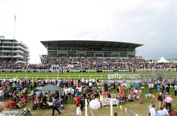 General view of the granstand at Epsom Racecourse