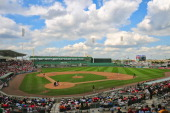 A general view of the Grapefruit League game between the Red Sox and the Florida Marlins on March 12 2012 at JetBlue Park in Ft Myers Florida