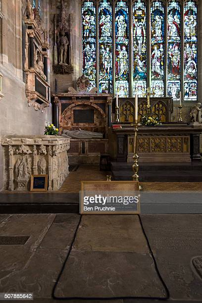 A general view of the grave of William Shakespeare at the Holy Trinity Church ahead of the 400th anniversary of Shakespeare's death on February 1...