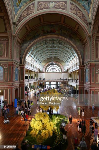 A general view of the Great Hall at the 18th annual International Flower and Garden Show held at the Royal Exhibition Building and the surrounding...