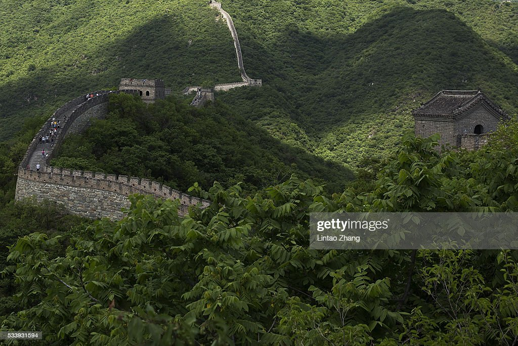 A general view of the Great Wall during the Weigh-in of IBF World Boxing Championship Bout at Mutianyu on May 24, 2016 in Beijing, China.