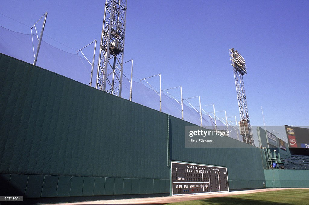 A general view of the Green Monster taken in 1992 at Fenway Park in Boston Massachusetts