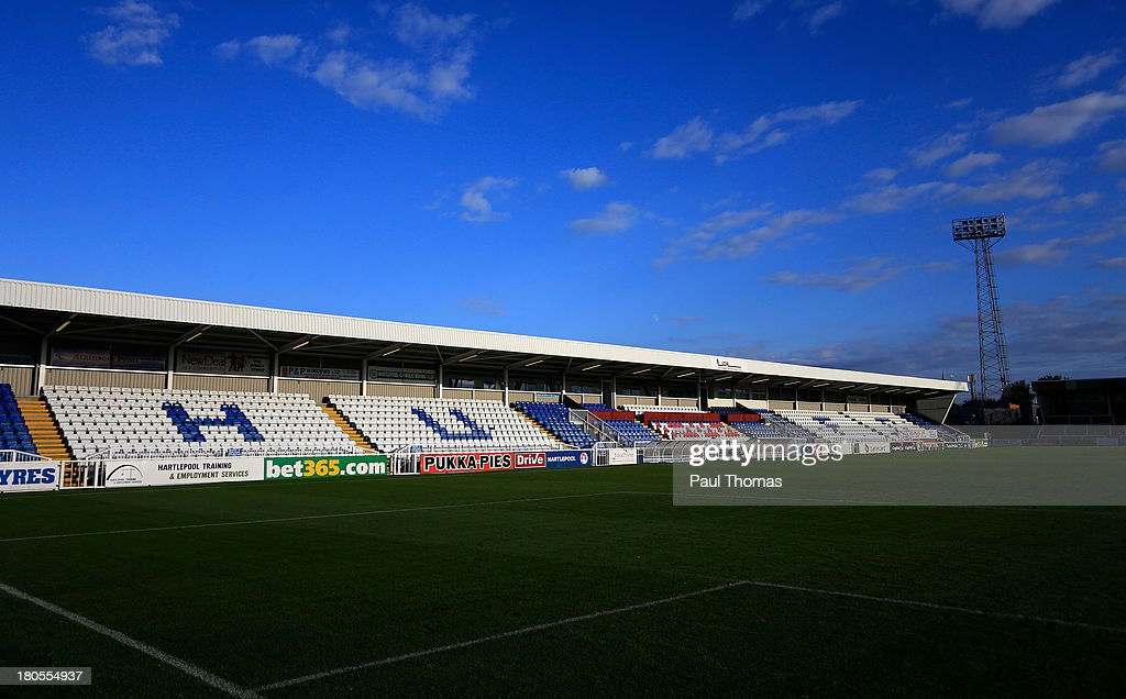 A general view of the ground after the Sky Bet League Two match between Hartlepool United and Accrington Stanley at Victoria Park on September 14...