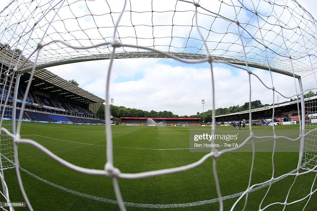 A general view of the ground ahead of the WPL Playoff match between Brighton & Hove Albion WFC and Sporting Club Albion LFC at Adams Park on May 29, 2016 in High Wycombe, England.