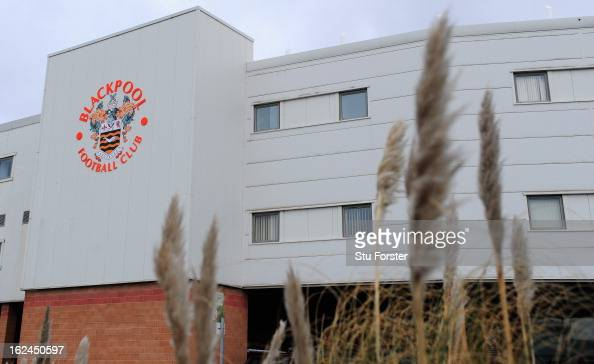 A general view of the ground before the npower Championship match between Blackpool and Leicester City at Bloomfield Road on February 23 2013 in...