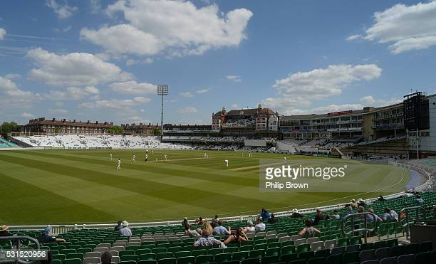 A general view of the ground during day one of the Specsavers County Championship Division One match between Surrey and Middlesex at the Kia Oval on...