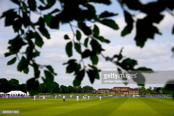 A general view of the ground during day one of the Specsavers County Championship Division One match between Middlesex and Hampshire at Merchant...