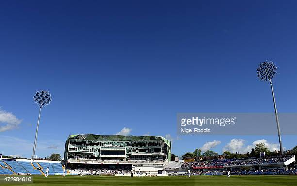 A general view of the ground during day two of the LV County Championship Division One match between Yorkshire and Hampshire at Headingley on May 11...