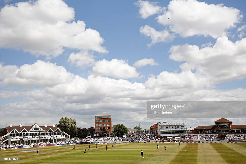 A general view of the ground during the 1st Royal London ODI of the Women's Ashes Series between England Women v Australia Women at The County Ground...