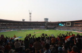 A general view of the ground during the 2011 ICC World Cup Group B match between India and England at M Chinnaswamy Stadium on February 27 2011 in...