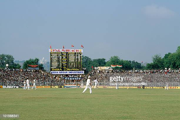 A general view of the ground during the 2nd One Day International match between India and South Africa at the Captain Roop Singh Stadium in Gwalior...