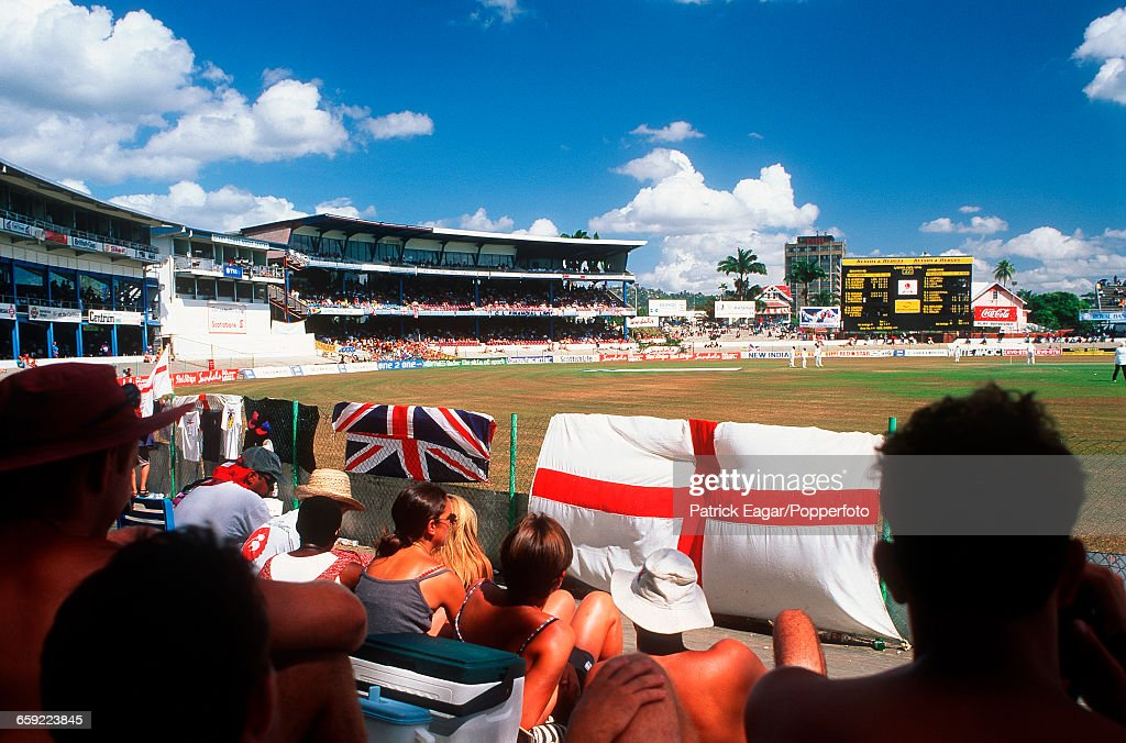 General view of the ground during the 3rd Test match between West Indies and England at the Queens Park Oval PortofSpain Trinidad 14th February 1998