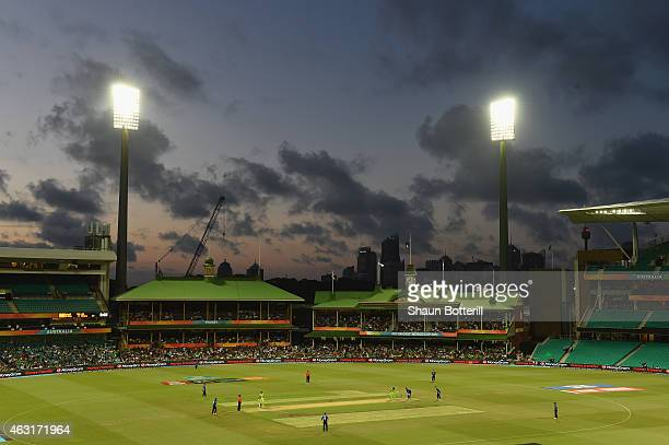 A general view of the ground during the ICC Cricket World Cup warm up match between England and Pakistan at Sydney Cricket Ground on February 11 2015...