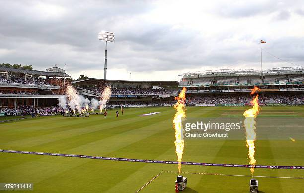 A general view of the ground during the NatWest T20 Blast match between Middlesex and Sussex at Lord's Cricket Ground on July 02 2015 in London...