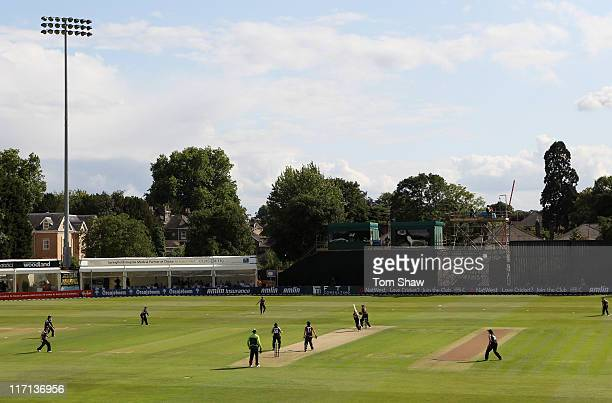 A general view of the ground during the NatWest Women's Twenty20 Quadrangular Series between England and New Zealand at the County Ground on June 23...