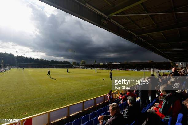 A general view of the ground during the Npower League Two match between AFC Wimbledon and Cheltenham Town at The Cherry Red Records Stadium on...