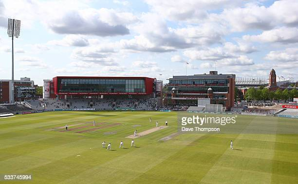 General view of the ground during the Specsavers County Championship Division One match between Lancashire and Surrey at The Emirates Old Trafford...