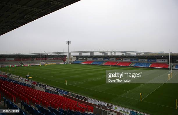 General view of the ground prior to the Aviva Premiership match between Sale Sharks and Northampton Saints at the AJ Bell Stadium on November 1 2015...