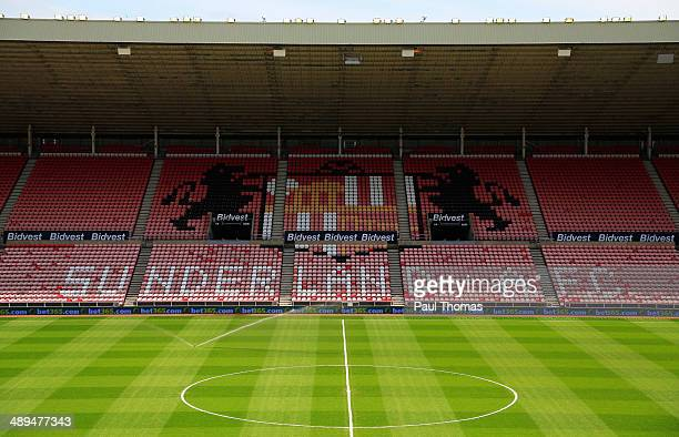 A general view of the ground prior to the Barclays Premier League match between Sunderland and Swansea City at Stadium of Light on May 11 2014 in...