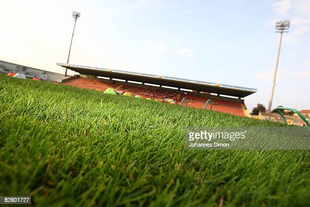 General view of the Gruenwalder Stadion seen ahead of the Third liga match between Bayern Muenchen II and Carl Zeiss Jena at the Gruenwalder Stadion...