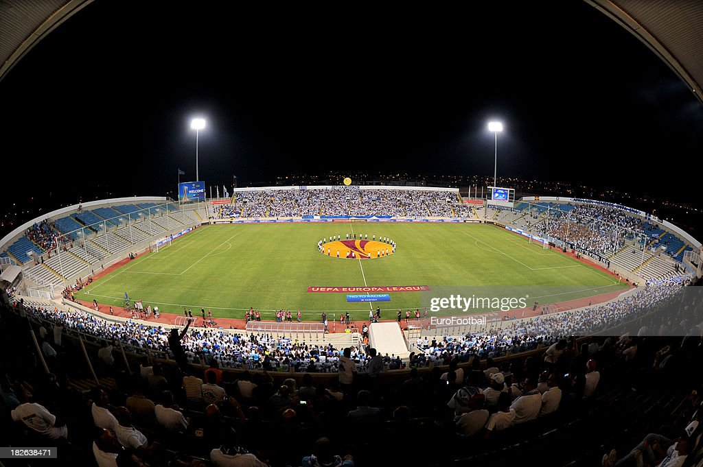 General view of the GSP Stadium home of Apollon Limassol FC taken during the UEFA Europa Leaque group stage match between Apollon Limassol FC and...