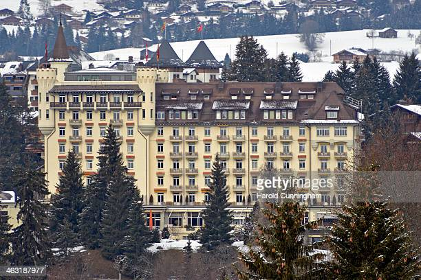 A general view of the Gstaad Palace on January 16 2014 in Gstaad Switzerland
