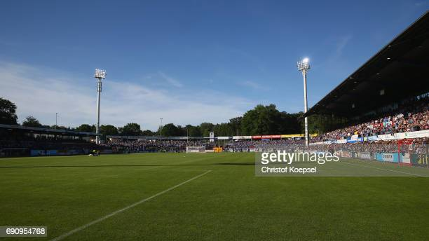 General view of the Haensch Arena during the Relegation Regionalliga Play Off second leg match at Hensch Arena on May 31 2017 in Meppen Germany