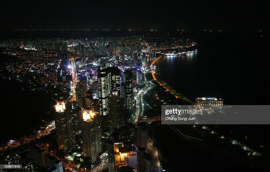 A general view of the Haeundae beach, a part of BIFF Plaza, during the 17th Busan International Film Festival (BIFF) on October 11, 2012 in Busan, South Korea. The biggest film festival in Asia showcases 304 films from 75 countries and runs from October 4-13.