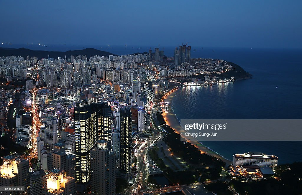 A general view of the Haeundae beach, a part of BIFF Plaza, during the 17th Busan International Film Festival (BIFF) on October 12, 2012 in Busan, South Korea. The biggest film festival in Asia showcases 304 films from 75 countries and runs from October 4-13.
