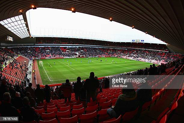 A general view of the half filled stadium during the FA Cup sponsored by EON third round match between Sunderland and Wigan Athletic at the Stadium...