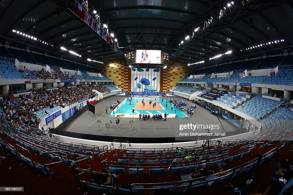 A general view of the Hamdan Bin Mohammed bin Rashid Sport complex during 17th Asian Men's Volleyball Championship on October 5, 2013 in Dubai, United Arab Emirates.