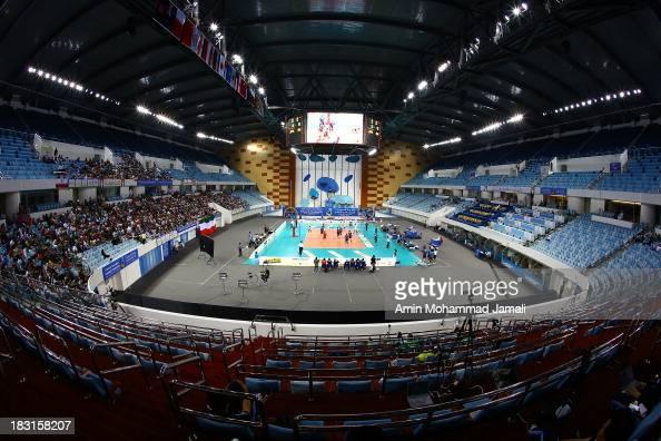 A general view of the Hamdan Bin Mohammed bin Rashid Sport complex during 17th Asian Men's Volleyball Championship on October 5 2013 in Dubai United...
