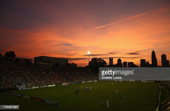 A general view of the Hamilton Nationals against the Charlotte Hounds during their game at American Legion Memorial Stadium on August 3 2013 in...