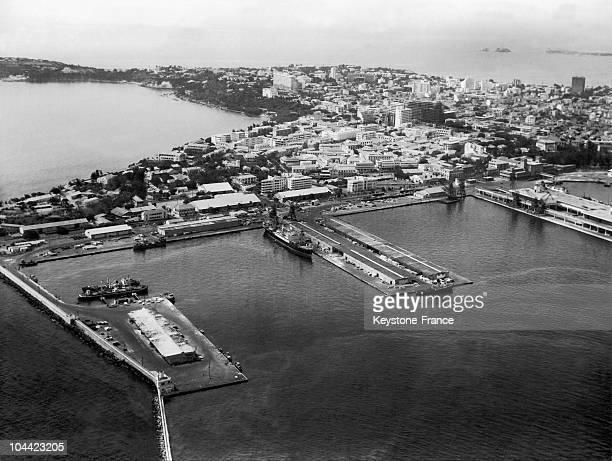General View Of The Harbour Of Dakar Senegal Around 19581960