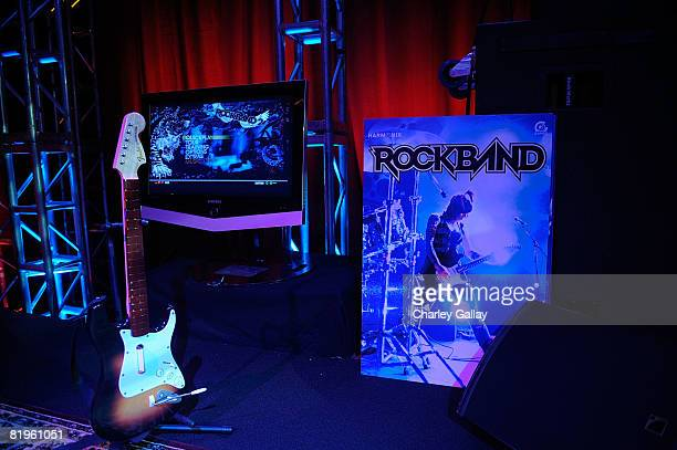 A general view of the Harmonix music video game 'Rock Band 2' played by guests during the Harmonix And MTV Games Rock Band Party at the Orpheum...
