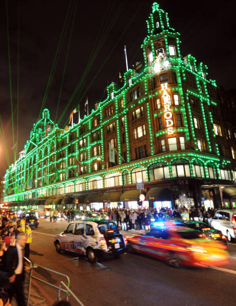 a general view of the harrods christmas lights outside the department store in knightsbridge - Christmas Lights Store