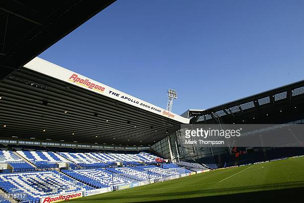 General view of The Hawthorns home of West Bromwich Albion Football Club taken during the FA Cup third round match between West Bromwich Albion and...