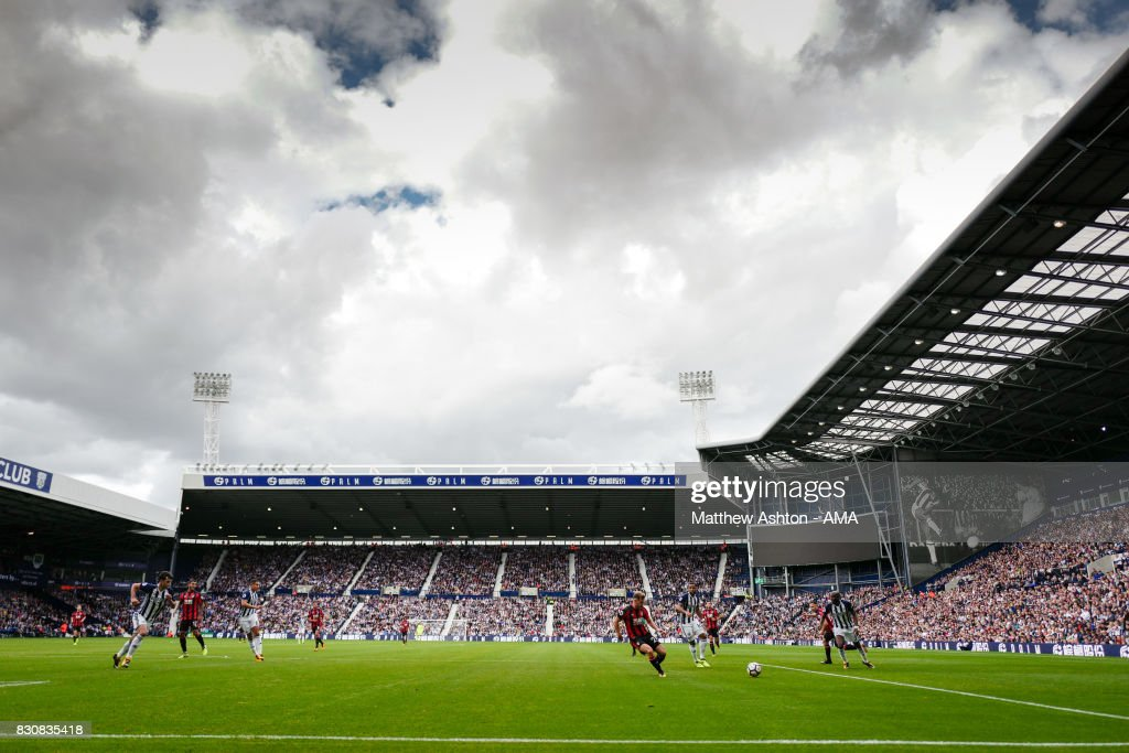 A General view of The Hawthorns home stadium of West Bromwich Albion during the Premier League match between West Bromwich Albion and AFC Bournemouth at The Hawthorns on August 12, 2017 in West Bromwich, England.