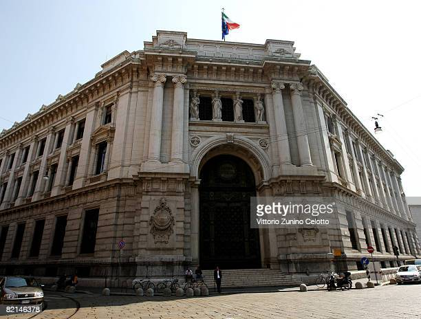 A general view of the head office of the Banca D'Italia on July 31 2008 in Milan Italy