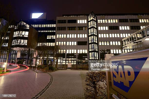 A general view of the headquarters of SAP AG Germany's largest software company on January 8 2013 in Walldorf Germany The software giant plans to...