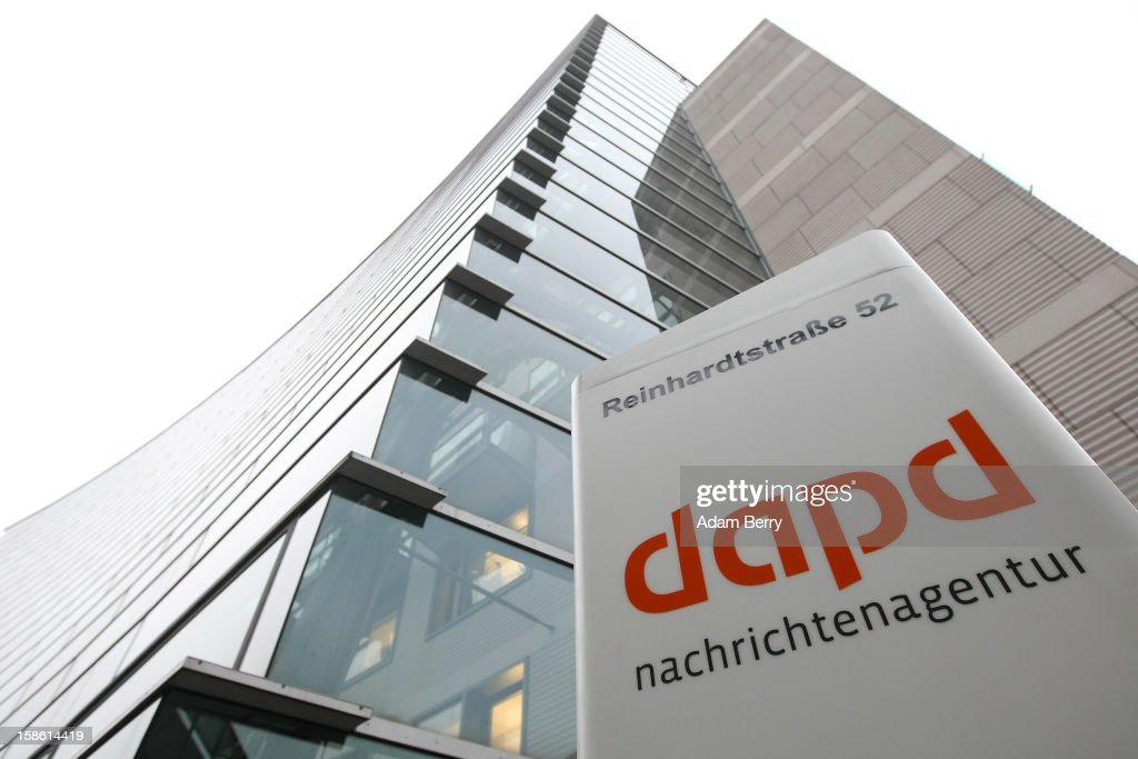 A general view of the headquarters of the dapd news agency December 21, 2012 in Berlin, Germany. The financial newswire Dow Jones is to replace Associated Press as an international distribution partner for the insolvent news agency dapd. Former CEO of N24 television Ulrich Ende is serving as a new investor in Germany's second-largest news agency, which declared bankruptcy in October and fired one hundred, or one-third, of its employees the following month.