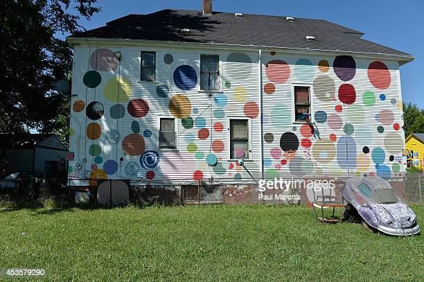 A general view of the Heidelberg Project by founder Tyree Guyton on August 13 2014 in Detroit Michigan