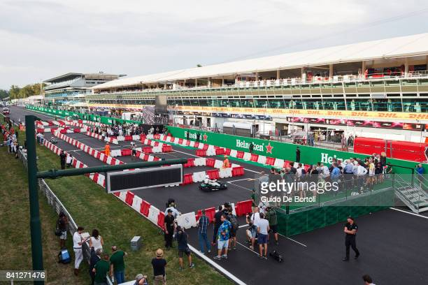 A general view of the Heineken Champions of the Grid gokart race ahead of the Formula One Grand Prix of Italy at Autodromo di Monza on August 31 2017...