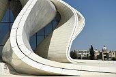 A general view of the Heydar Aliyev Centre in Baku on August 6 2014 in Baku Azerbaijan