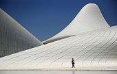 A general view of the Heydar Aliyev Cultural Center ahead of Baku 2015 the first European Games on June 10 2015 in Baku Azerbaijan